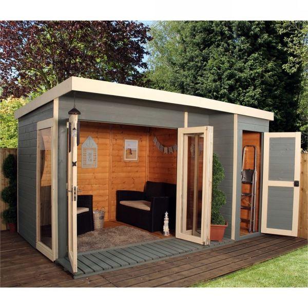 Slant Roof 14x24 Simple Shed Assembling Blueprints Tasks