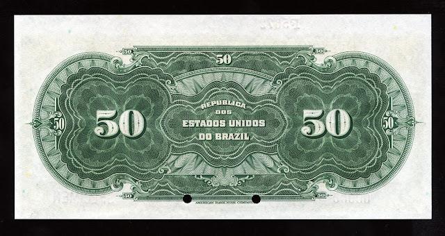 Cédula Brasileira cincoenta Mil Reais