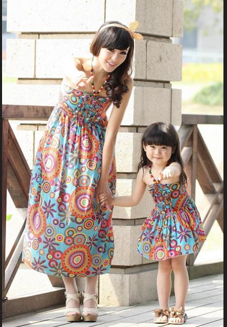 20 Baju Dress Korea Style untuk Ibu dan Anak Perempuan