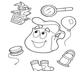 Juegos De Chicas Dibujos Para Pintar De La Mochila De Dora Y Las