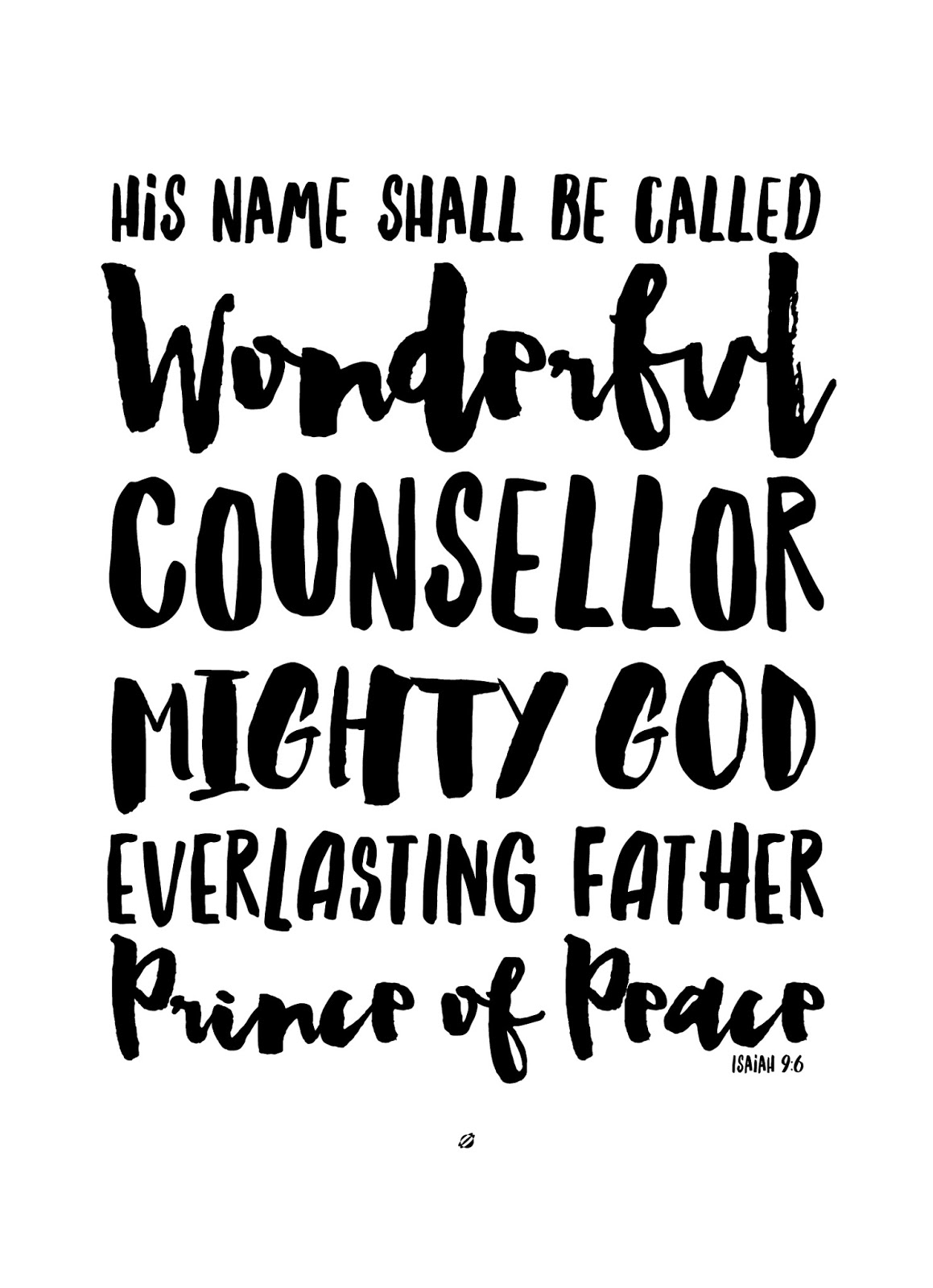 christmas 2016 isaiah 96 5x7 personal use only wwwlostbumblebeenet