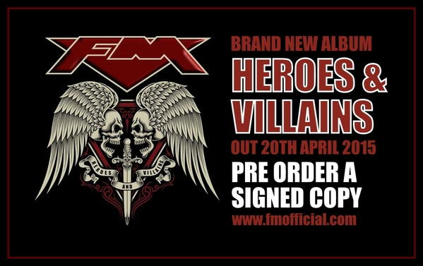 Click to pre-order your signed copy of new FM album HEROES AND VILLAINS