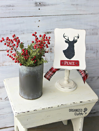Thrift Shop Recipe Card Stand Repurposed As Christmas Decor