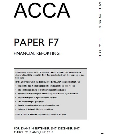 ACCA F7 Book and Kit 2019 - FREE ACCOUNTANCY STUDY MATERIALS