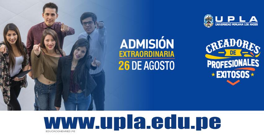 Resultados UPLA 2018-2 (26 Agosto) Lista Ingresantes Examen Admisión EXTRAORDINARIA - Huancayo - Lima - La Merced - Satipo - Universidad Peruana Los Andes - www.upla.edu.pe