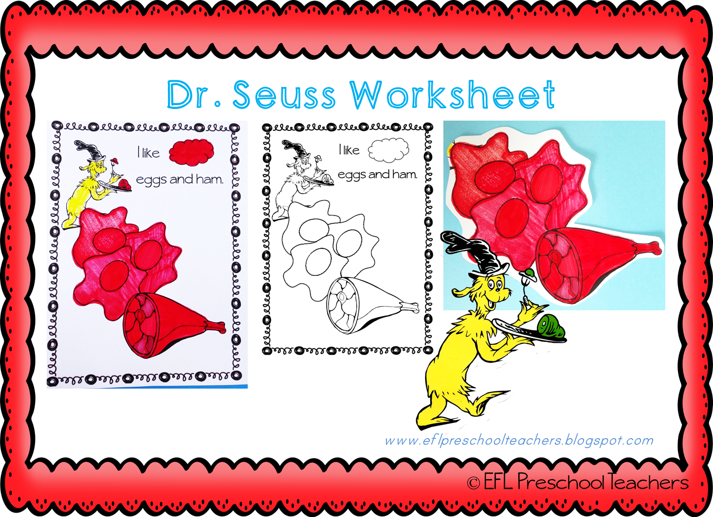 Dr seuss worksheets preschool