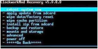 "Untuk langkah-langkah melakukan reset (recovery mode) handphone Anda, yakni sebagai berikut : Langkah pertama, Matikan Handphone, Smartphone atau Tabletnya yang akan direset. Pencet dan tahan tombolnya pada saat yang bersamaan (seperti misalnya pada Samsung Galaxy Young S5360), tekan Tombol Volume Up + Home + Power secara bersamaan, kemudian Anda akan masuk ke dalam Recovery Mode. Lalu akan muncul di layar handphone Anda tersebut kurang lebih sama dengan gambar berikut ini :  Pada langkah kedua ini, setelah berhasil masuk ke Recovery Mode, silahkan pilih fitur ""Wipe Data/Factory Reset"" terletak pada urutan ketiga dalam menu pilihan. Untuk memilik menu gunakan tombol Volume Up jika untuk memilih menu ke bagian atas, dan gunakan tombol Volume Down untuk memilih menu ke bagian bawah. Setelah itu selesai, silahkan hidupkan ulang (restart) dan reset Handphone Anda. Semua proses restart selesai, maka aplikasi Handphone Anda sudah berubah sama pada saat baru keluar dari pabriknya."