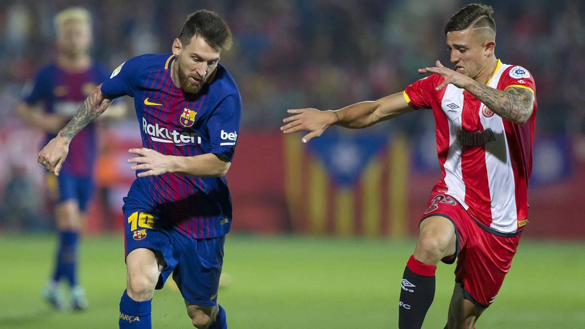 مباراة برشلونة وجيرونا  27-1-2019 الدوري الاسباني