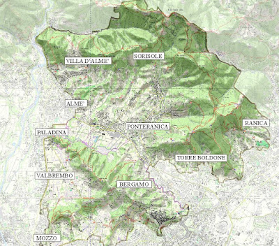 Area included in the Parco dei Colli di Bergamo.