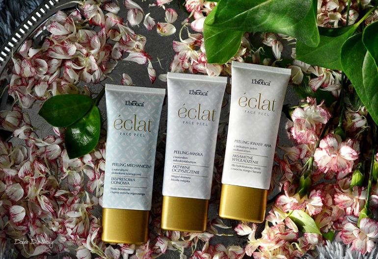 Peelingi L'biotica ÉCLAT - Peeling - maska, Peeling kwasy AHA, Peeling mechaniczny recenzja