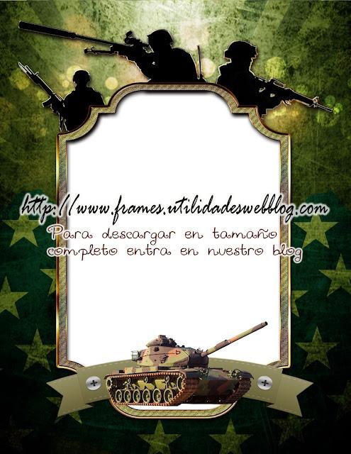 marco para fotomontajes militares