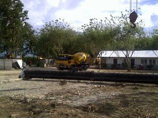 Proyek Pemancangan Bandara Mutiara Palu By PT Adhi Karya