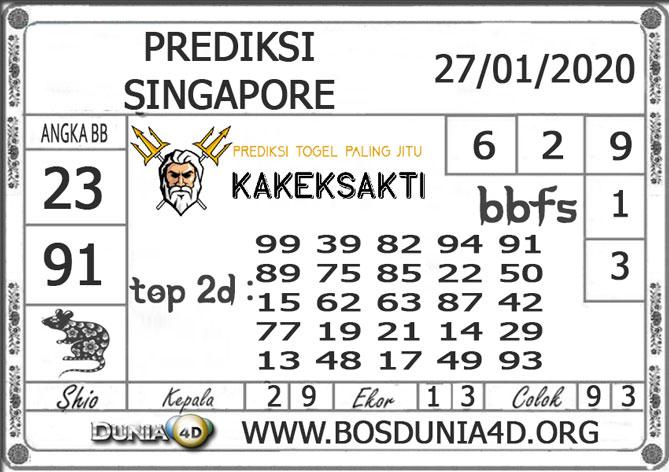 PREDIKSI TOGEL SINGAPORE DUNIA4D 27 JANUARI 2020