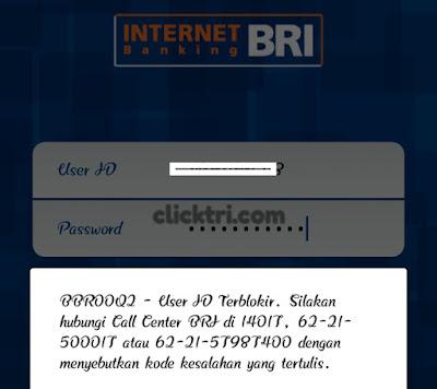 Internet banking bri di blokir