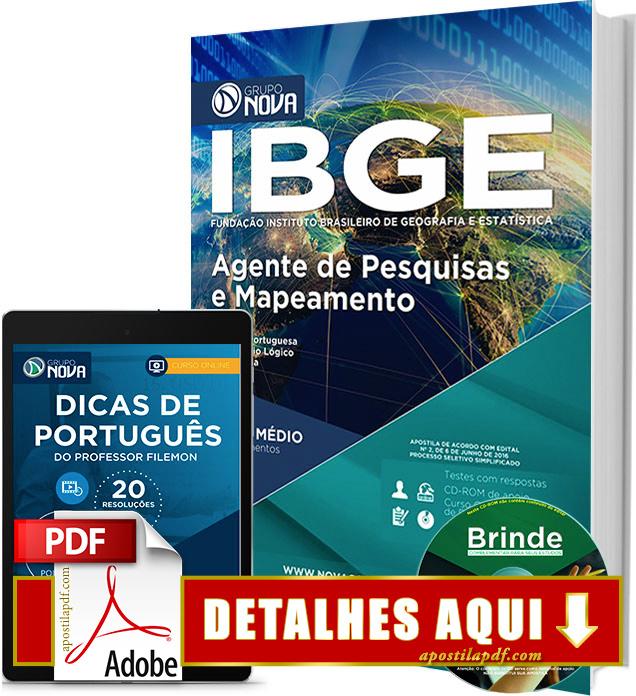 Apostila IBGE 2016 Agente de Pesquisas e Mapeamento Impressa
