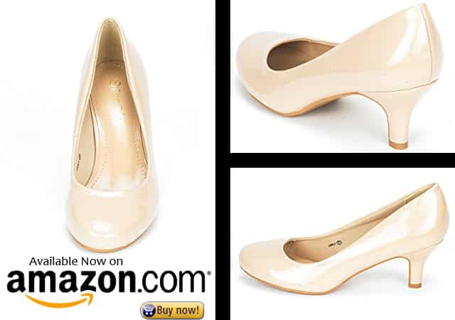 9. DREAM PAIRS LUVLY Women's Bridal Wedding Party Low Heel Pump Shoes