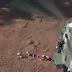 Bombeiros se arrastam na lama em Brumadinho