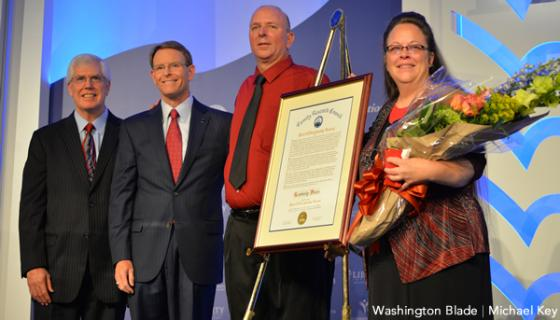 Mat Staver and Tony Perkins with Kim Davis and spouse