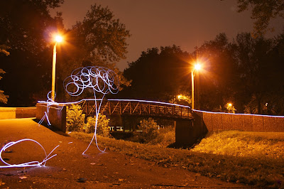 light painting figures