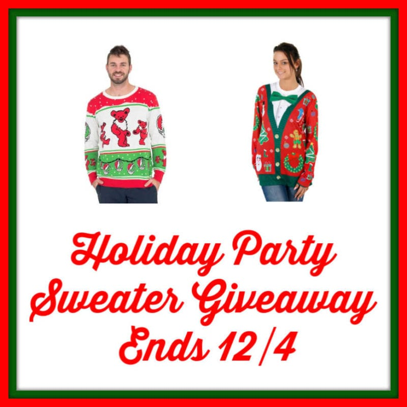 Holiday Party Sweater Giveaway