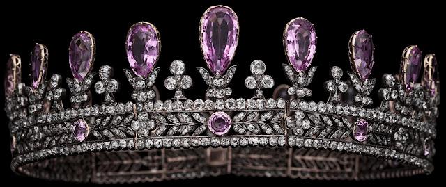Queen Louise of Prussia Pink Topaz Parure Tiara