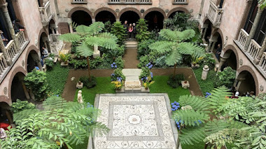 El patio interior del  Isabella Stewart Gardner Museum en Boston
