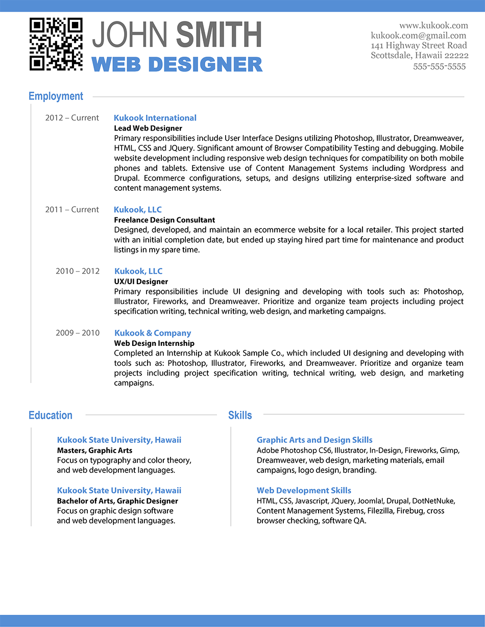 Resume Samples For Web Designer Fresher Than Fresh Gastonia