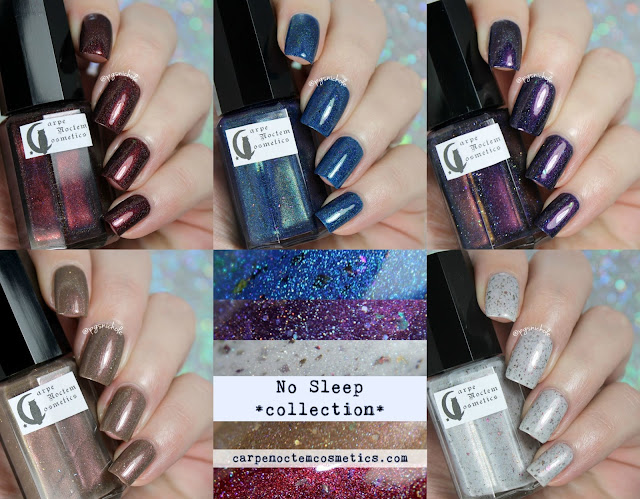 Carpe Noctem Cosmetics No Sleep Collection