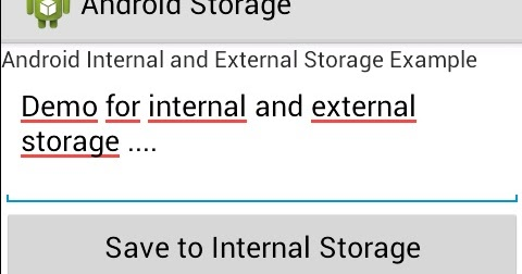 Programmers Sample Guide: Android Internal and External storage