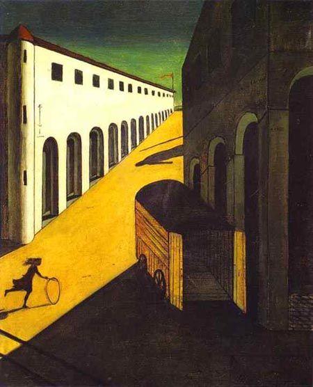 """""""Mistero e malinconia di una strada"""" di Giorgio De Chirico"""