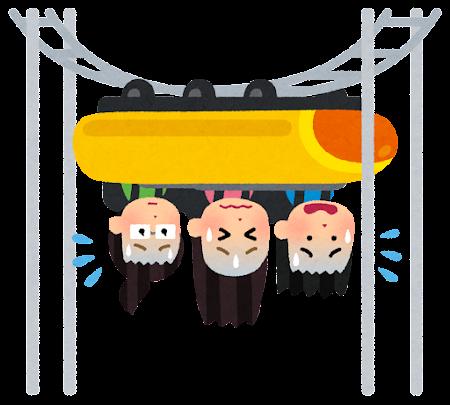 ジェットコースターの事故のイラスト