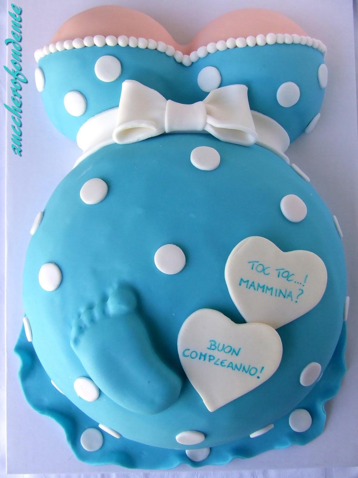 Zuccherofondente torta pancione for Case a forma di u