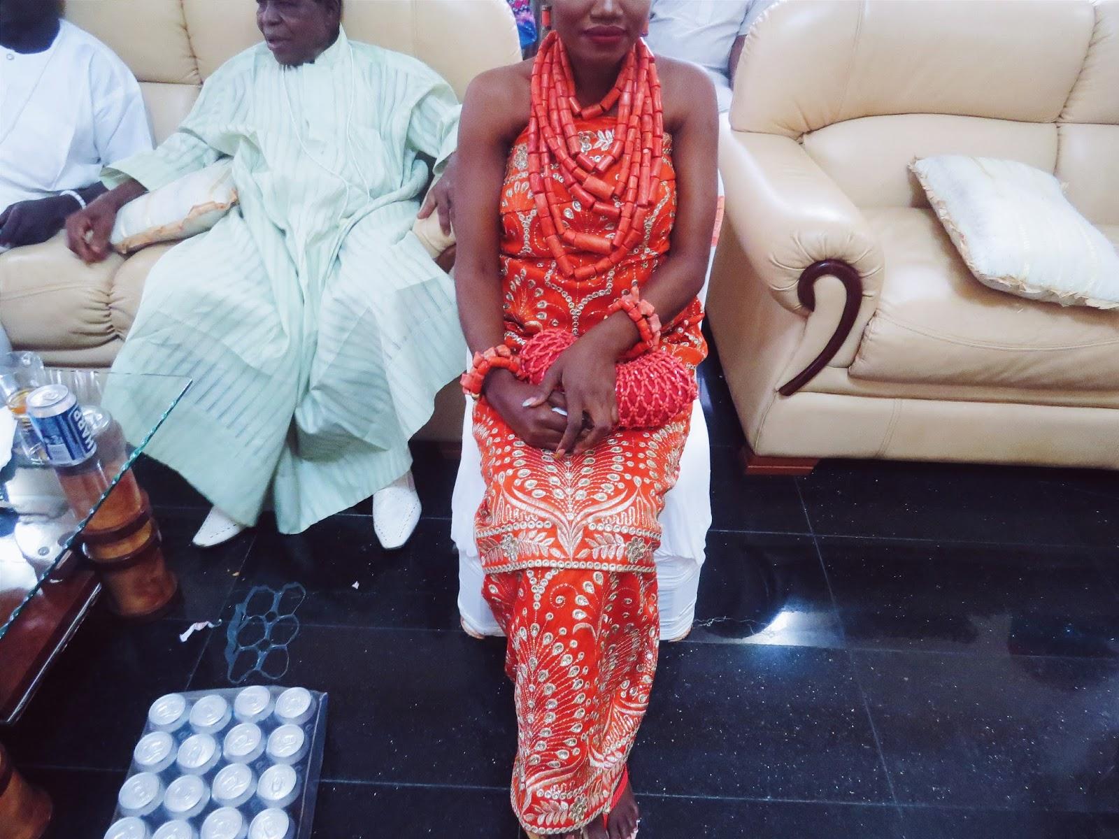 Edo Bini bride on her traditional wedding day