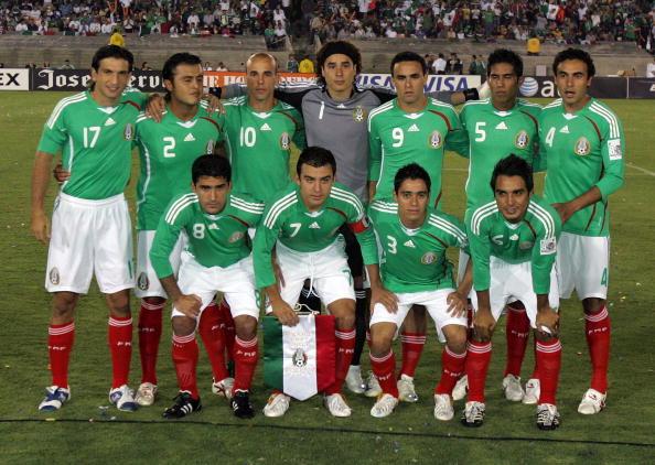 Formación de México ante Chile, amistoso disputado el 24 de septiembre de 2008