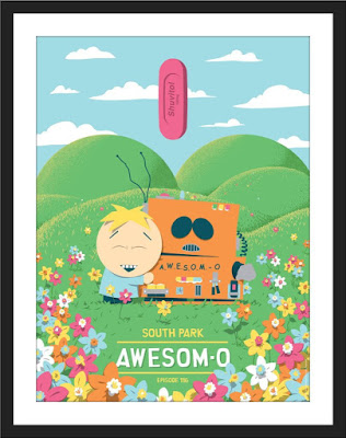 "South Park ""Awesom-O"" Screen Print by Florey x Bottleneck Gallery"