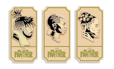 San Diego Comic-Con 2018 Exclusive Black Panther Movie Enamel Pins Series 2 by Matt Taylor x Mondo x Marvel