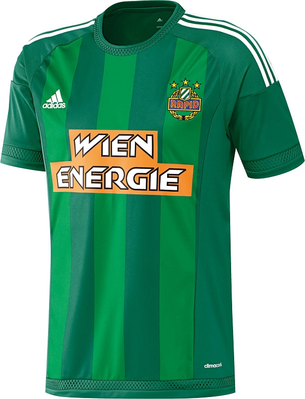 Adidas apresenta as camisas do Rapid Viena - Show de Camisas 391bd54910655