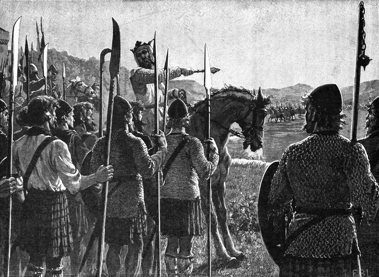 Robert the Bruce reviewing His Troops Before the Battle of Bannockburn