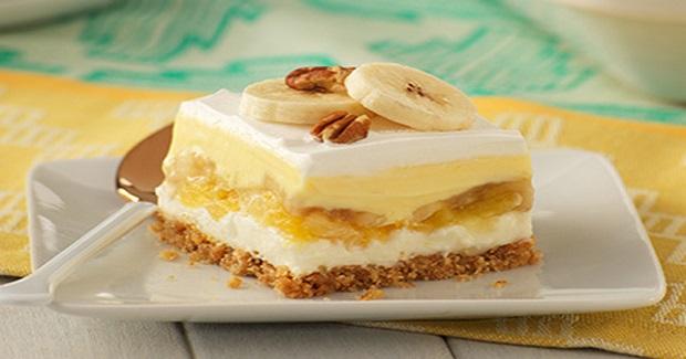 "White Chocolate-Banana Split ""Cake"" Recipe"