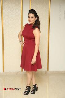 Telugu Tollywood Anchor Manjusha Pos in Red Short Dress  0143.JPG