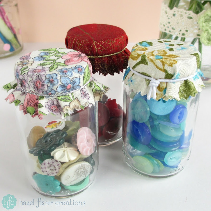 Upcycling Jars DIY ideas - hazelfishercreations