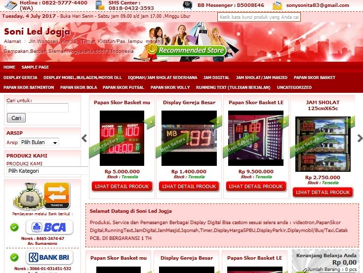jasa pembuatan web toko online murah terpercaya di Yogyakarta