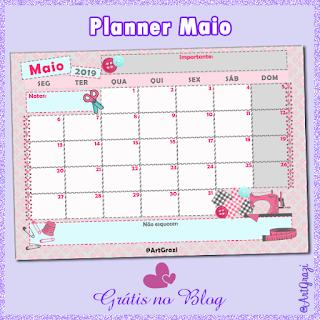Planner de Maio 2019