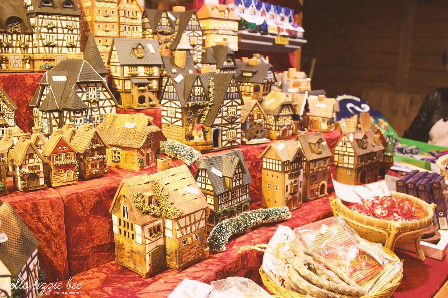 christmas, german houses, gingerbread, ornaments