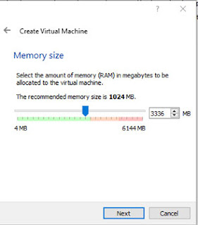 Select RAM for Virtual Machine