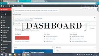 wordpress dahboard