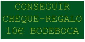 Cheque Regalo 10 € por hacerse Socio en Bodeboca