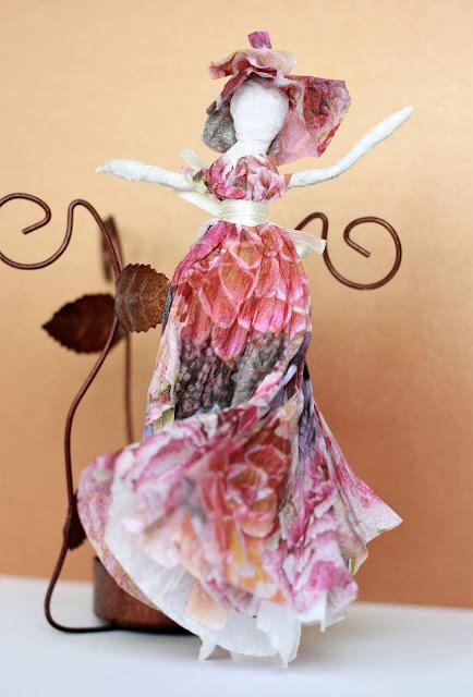 Ballerina aus Servietten