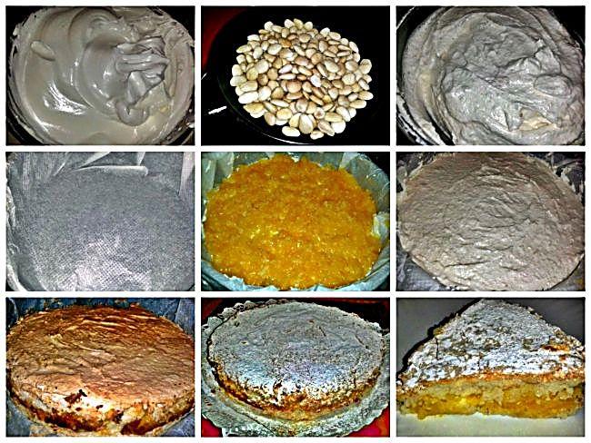 Preparación del pastel de gloria