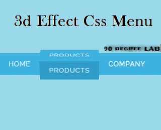 Awesome 3d Effect Css Menu bar for Blogger